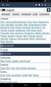 English Filipino Dictionary screenshot 9
