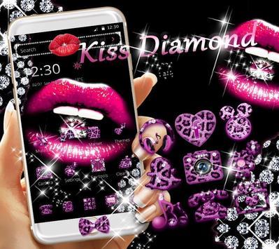 다이아몬드 키스 테마 호피 무늬 포스터