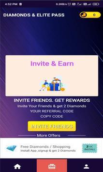 Free Diamonds And Elite Pass screenshot 2