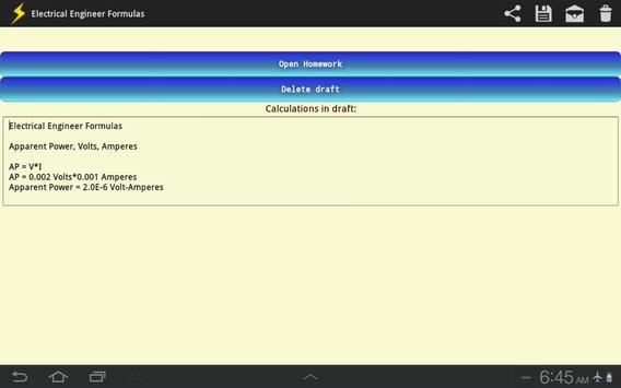 Electrical Engineer Formulas screenshot 8