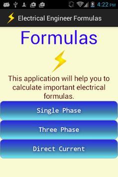 Electrical Engineer Formulas poster