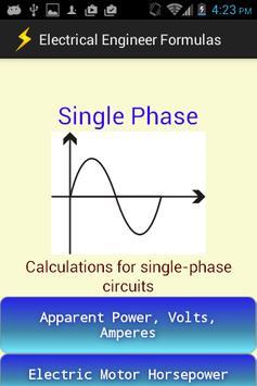 Electrical Engineer Formulas screenshot 1