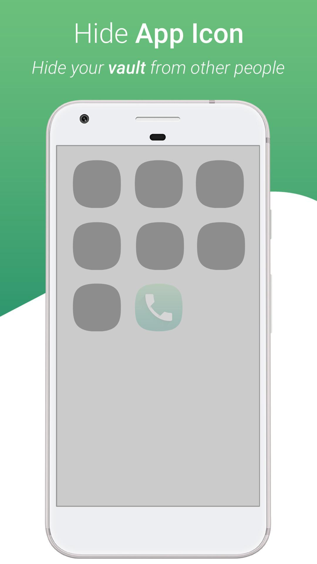 Dialer Vault - VaultDroid Hide Photo Video OS 10 for Android - APK