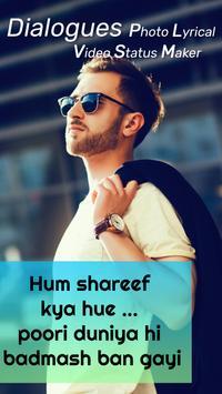 Bollywood Photo Lyrical Dialogue Video Maker poster
