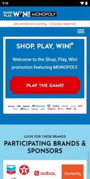 Shop, Play, Win!® MONOPOLY poster