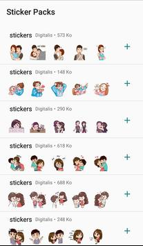 Love stickers for couples - WAStickerApps poster
