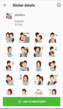 Love stickers for couples - WAStickerApps screenshot 1