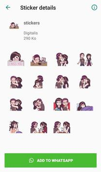 Love stickers for couples - WAStickerApps screenshot 2
