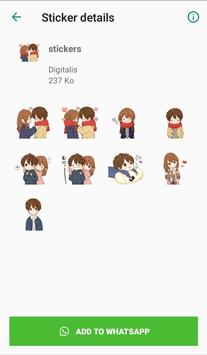 Love stickers for couples - WAStickerApps screenshot 4