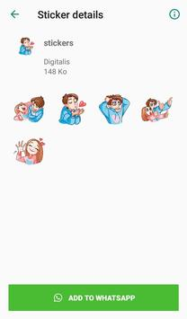Love stickers for couples - WAStickerApps screenshot 6