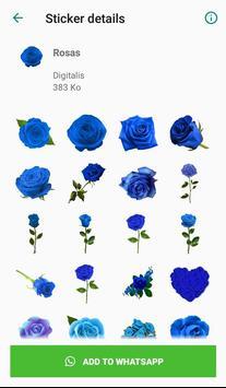 Nueva Rosas Pegatinas Para chatear - WAStickerApps screenshot 4
