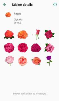 Nueva Rosas Pegatinas Para chatear - WAStickerApps screenshot 5
