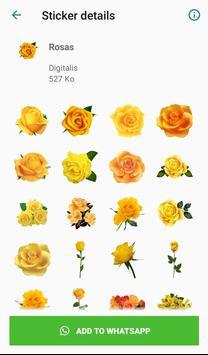 Nueva Rosas Pegatinas Para chatear - WAStickerApps screenshot 6