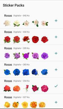 Nueva Rosas Pegatinas Para chatear - WAStickerApps poster