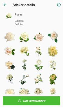 Nueva Rosas Pegatinas Para chatear - WAStickerApps screenshot 1