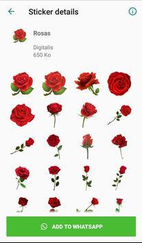 Nueva Rosas Pegatinas Para chatear - WAStickerApps screenshot 2