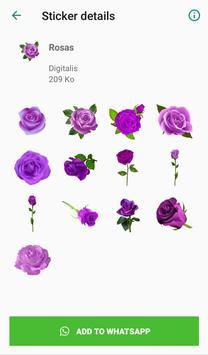 Nueva Rosas Pegatinas Para chatear - WAStickerApps screenshot 3