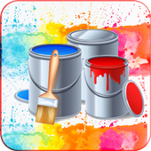 Kids Painting Book: Color shapes icon
