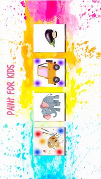Kids Painting Book: Color shapes poster