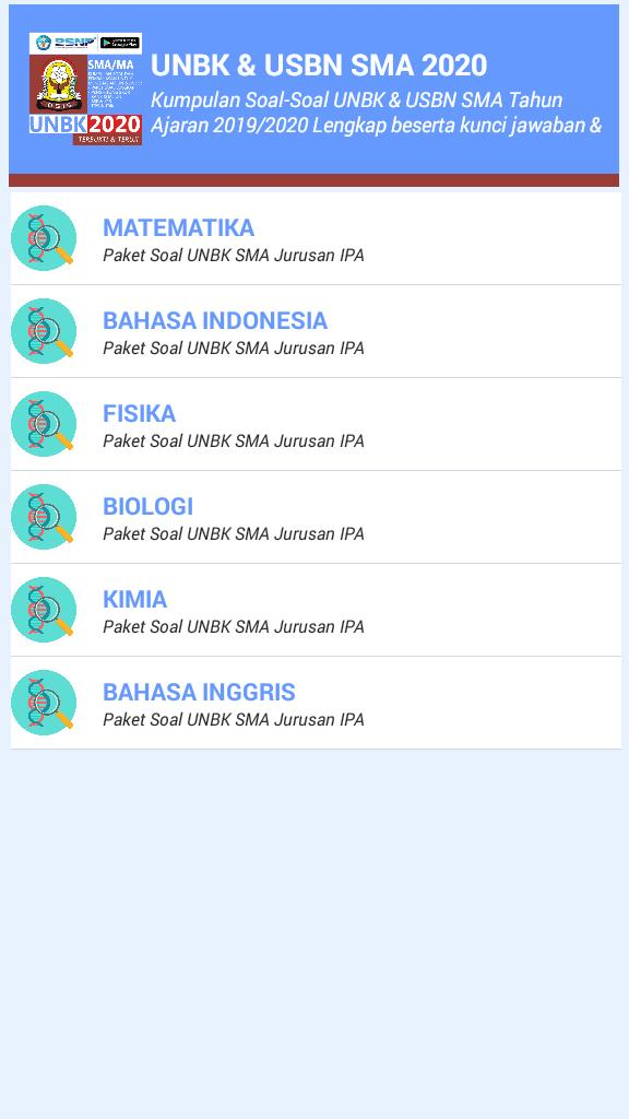 Soal Un Sma 2020 Usbn Unbk For Android Apk Download