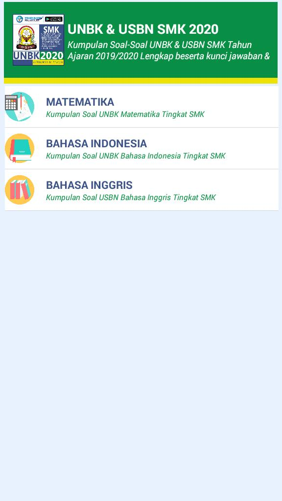 Soal Un Smk 2020 Usbn Unbk For Android Apk Download