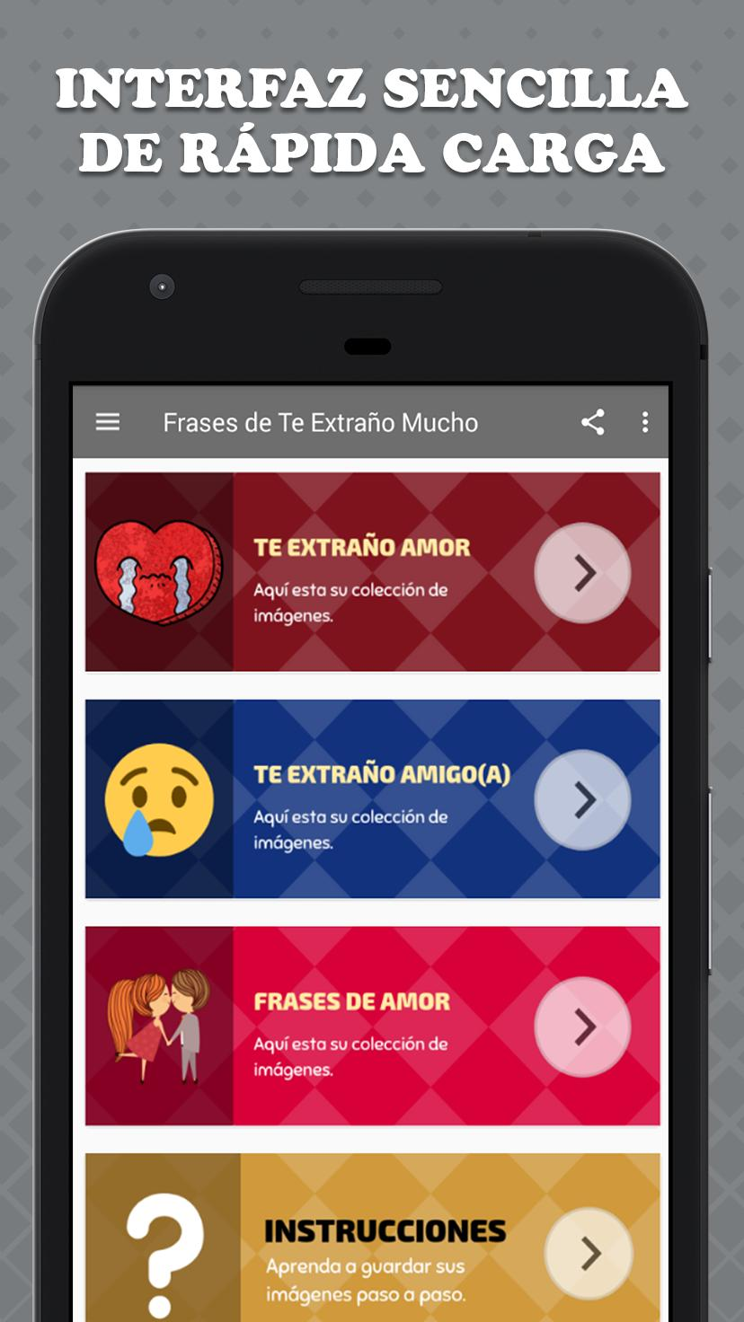 Frases De Te Extraño Mucho For Android Apk Download