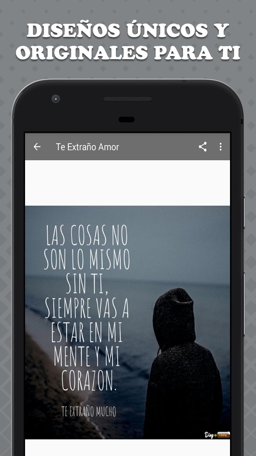 Frases De Te Extraño Mucho для андроид скачать Apk