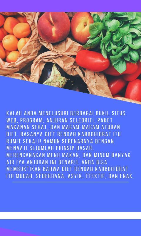 Diet Rendah Karbohidrat Dengan Mudah Dan Sederhana For Android