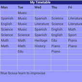 School Timetable icon