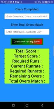 CRICKET SCORE CALCULATOR screenshot 4