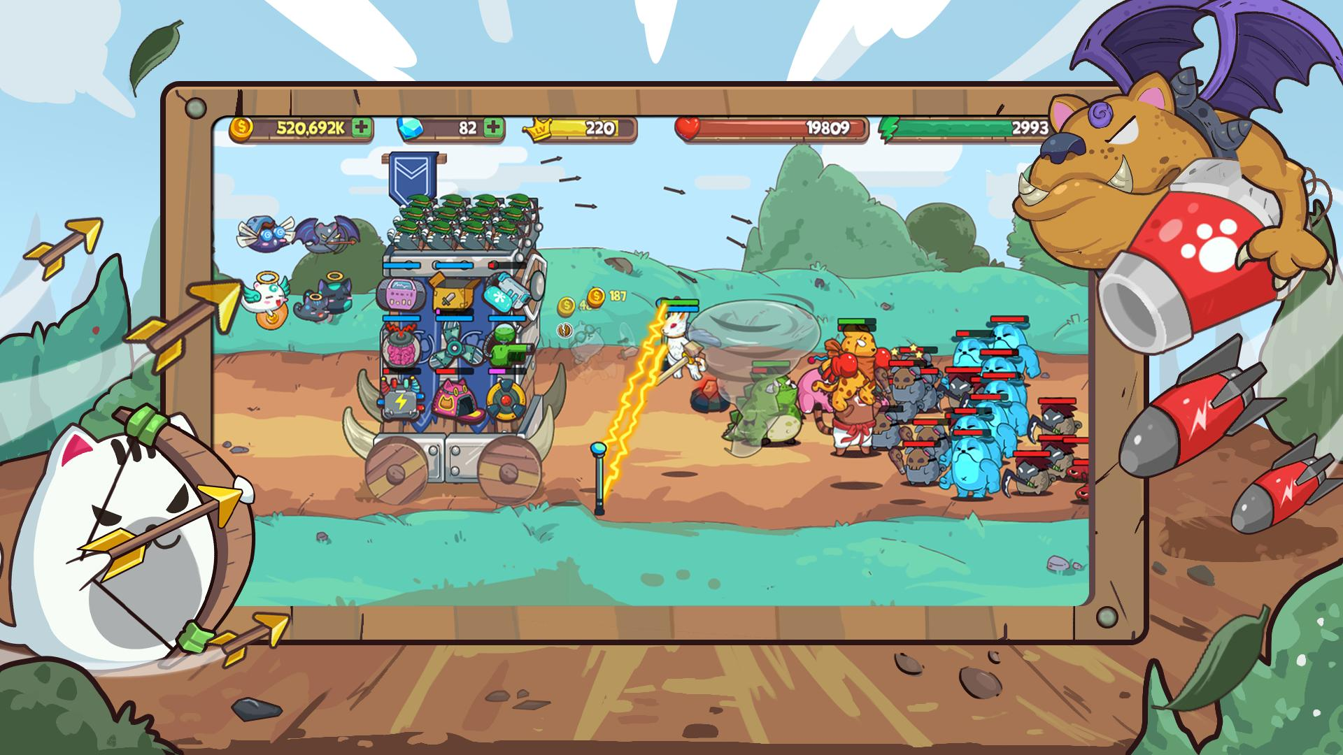 Cat'n'Robot: Idle Defense - Cute Castle TD PVP for Android