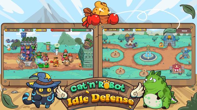 Cat'n'Robot: Idle Defense - Cute Castle TD PVP screenshot 11