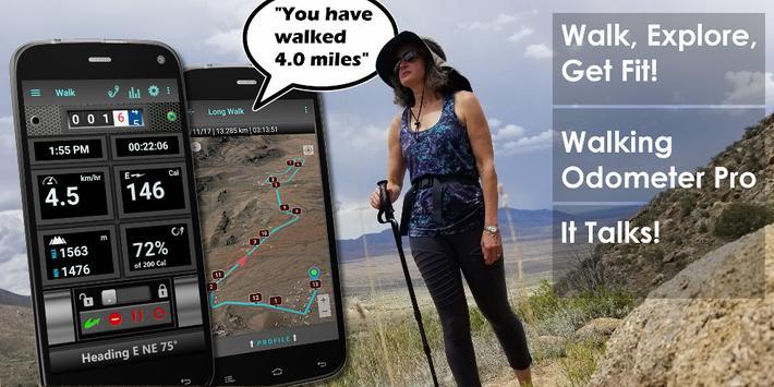 Walking Odometer Pro poster