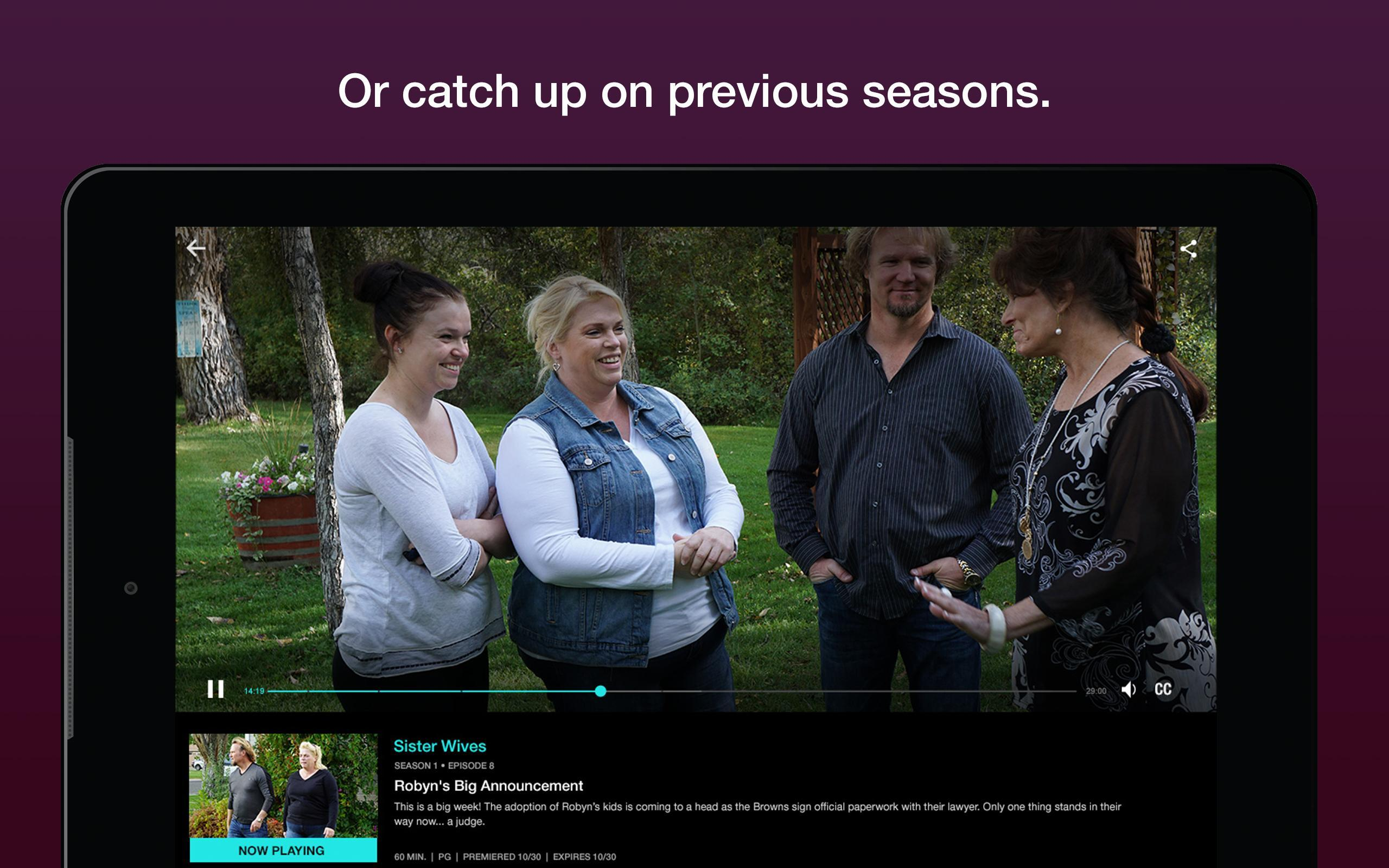 Stream Top Quality TV & Watch On Demand - TLC GO for Android