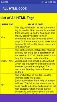 All Html Tags List screenshot 2