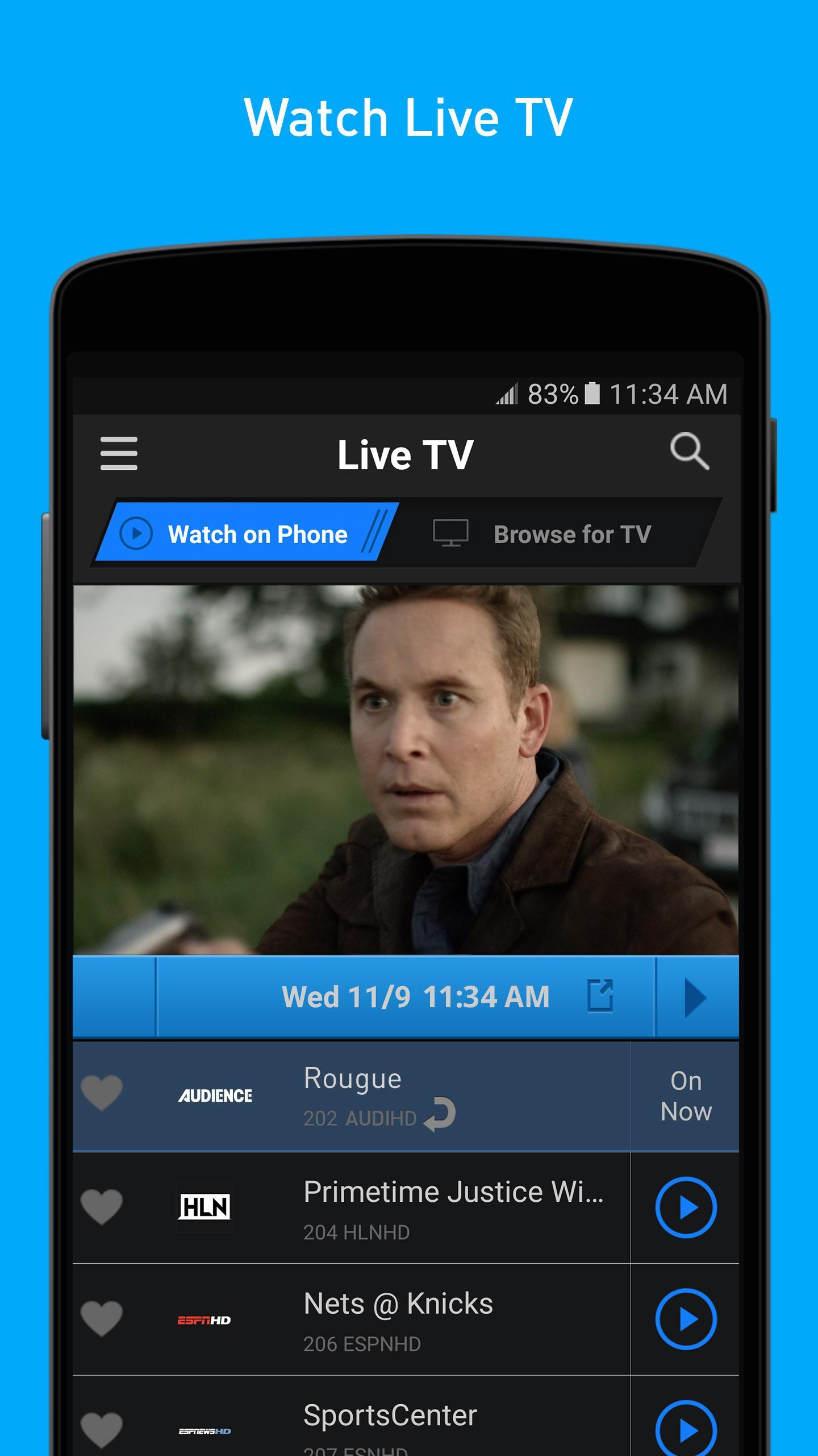 directv now apk for android tv