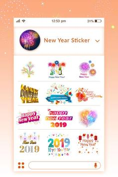 Stickers for WhatsApp –WASticker for New Year 2019 screenshot 1
