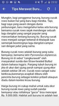 Kicau Cucak Rowo Juara screenshot 3