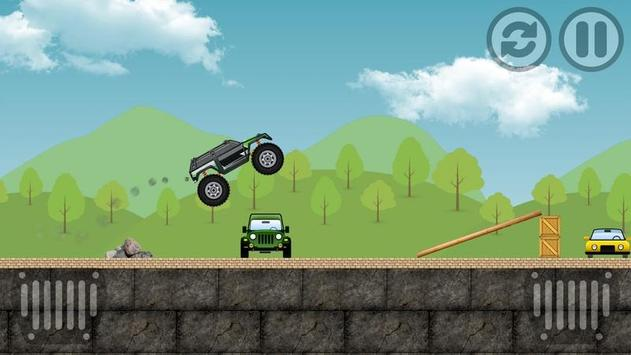 Car Ramp Jumper In Mountain poster
