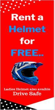 Rent Helmet | Your Security poster