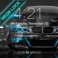 Neon Cars Lock Screen
