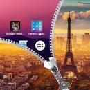 Paris Zipper Lock Screen APK Android