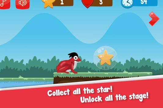 Flip frog - kid game, jump, flip and escape! poster