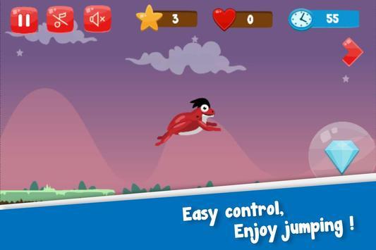 Flip frog - kid game, jump, flip and escape! screenshot 1