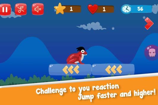 Flip frog - kid game, jump, flip and escape! screenshot 2
