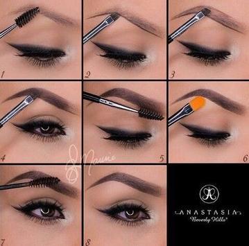 eyebrow make up tutorials screenshot 9