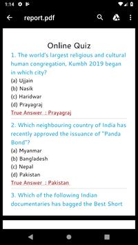 Rojgaar Current Affair's Quiz screenshot 6