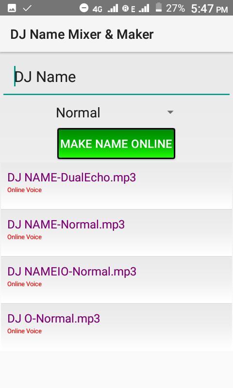 dj name voice maker software free download