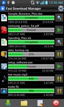 Fast Download Manager تصوير الشاشة 1