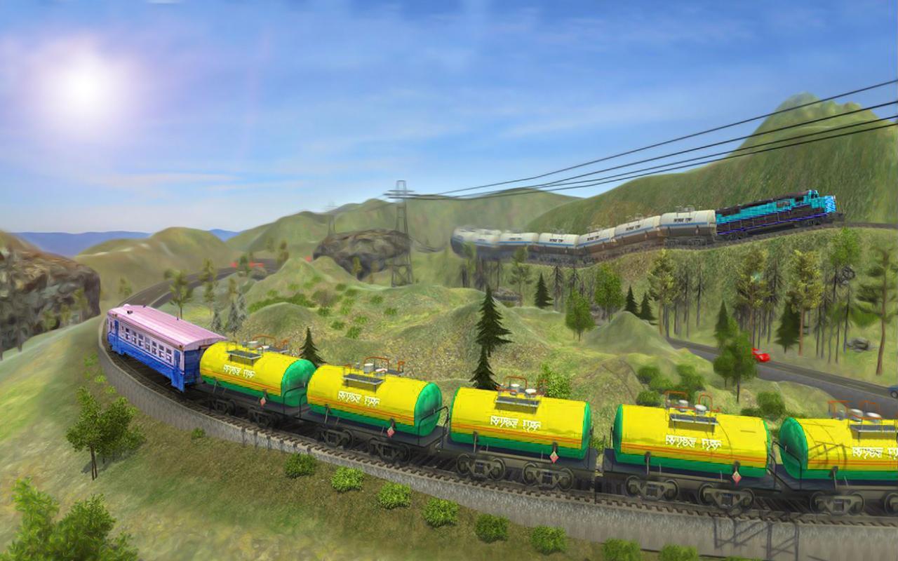 поезд с транспортером